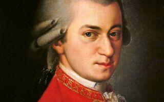 Вольфганг Амадей Моцарт — цікаві факти